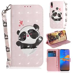 Heart Cat 3D Painted Leather Wallet Phone Case for Motorola Moto E6 Plus