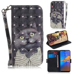 Cat Embrace 3D Painted Leather Wallet Phone Case for Motorola Moto E6 Plus