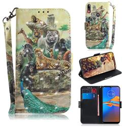 Beast Zoo 3D Painted Leather Wallet Phone Case for Motorola Moto E6 Plus
