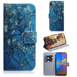 Apricot Tree PU Leather Wallet Case for Motorola Moto E6 Plus