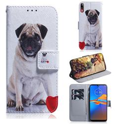 Pug Dog PU Leather Wallet Case for Motorola Moto E6 Plus