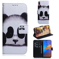 Sleeping Panda PU Leather Wallet Case for Motorola Moto E6 Plus