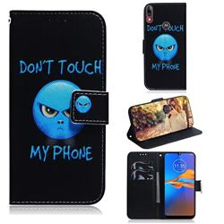 Not Touch My Phone PU Leather Wallet Case for Motorola Moto E6 Plus