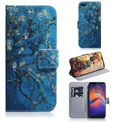 Apricot Tree PU Leather Wallet Case for Motorola Moto E6 Play
