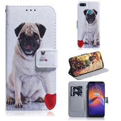 Pug Dog PU Leather Wallet Case for Motorola Moto E6 Play