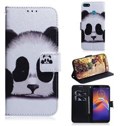 Sleeping Panda PU Leather Wallet Case for Motorola Moto E6 Play