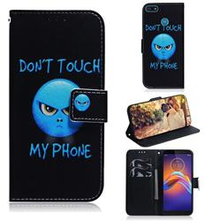 Not Touch My Phone PU Leather Wallet Case for Motorola Moto E6 Play