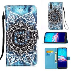 Underwater Mandala Matte Leather Wallet Phone Case for Motorola Moto E6s (2020)