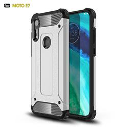 King Kong Armor Premium Shockproof Dual Layer Rugged Hard Cover for Motorola Moto E7 - White