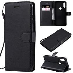 Retro Greek Classic Smooth PU Leather Wallet Phone Case for Motorola Moto E7 - Black