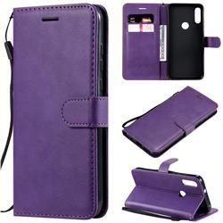 Retro Greek Classic Smooth PU Leather Wallet Phone Case for Motorola Moto E7 - Purple