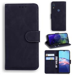Retro Classic Skin Feel Leather Wallet Phone Case for Motorola Moto E7(Moto E 2020) - Black