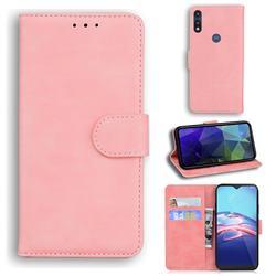 Retro Classic Skin Feel Leather Wallet Phone Case for Motorola Moto E7(Moto E 2020) - Pink