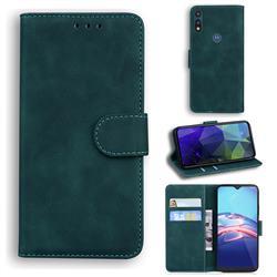 Retro Classic Skin Feel Leather Wallet Phone Case for Motorola Moto E7(Moto E 2020) - Green