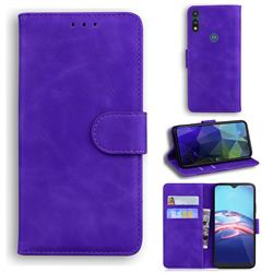 Retro Classic Skin Feel Leather Wallet Phone Case for Motorola Moto E7(Moto E 2020) - Purple
