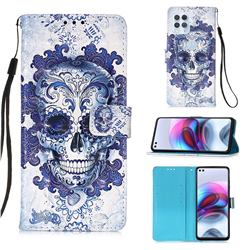 Cloud Kito 3D Painted Leather Wallet Case for Motorola Edge S
