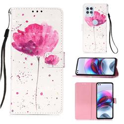 Watercolor 3D Painted Leather Wallet Case for Motorola Edge S