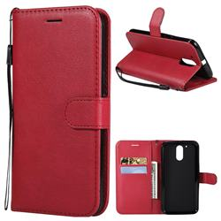 Retro Greek Classic Smooth PU Leather Wallet Phone Case for Motorola Moto G4 G4 Plus - Red