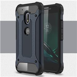 King Kong Armor Premium Shockproof Dual Layer Rugged Hard Cover for Motorola Moto G4 Play - Navy