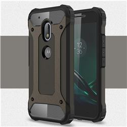 King Kong Armor Premium Shockproof Dual Layer Rugged Hard Cover for Motorola Moto G4 Play - Bronze