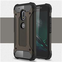 King Kong Armor Premium Shockproof Dual Layer Rugged Hard Cover for Motorola Moto G4 Play - Bronze