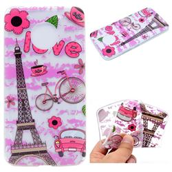 Love Eiffel Tower Super Clear Soft TPU Back Cover for Motorola Moto G5