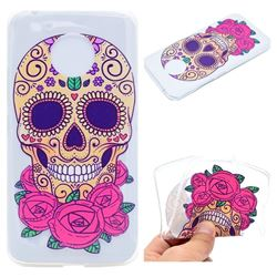 Skeleton Flower Super Clear Soft TPU Back Cover for Motorola Moto G5