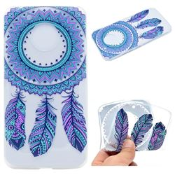 Blue Feather Campanula Super Clear Soft TPU Back Cover for Motorola Moto G5