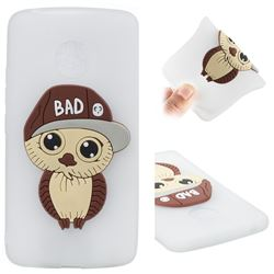 Bad Boy Owl Soft 3D Silicone Case for Motorola Moto G5 - Translucent White
