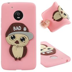 Bad Boy Owl Soft 3D Silicone Case for Motorola Moto G5 - Pink