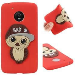 Bad Boy Owl Soft 3D Silicone Case for Motorola Moto G5 - Red