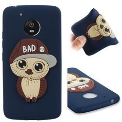 Bad Boy Owl Soft 3D Silicone Case for Motorola Moto G5 - Navy