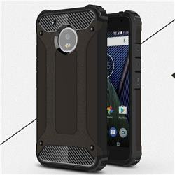 King Kong Armor Premium Shockproof Dual Layer Rugged Hard Cover for Motorola Moto G5 - Black Gold