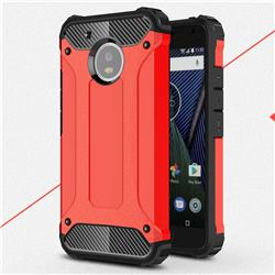 King Kong Armor Premium Shockproof Dual Layer Rugged Hard Cover for Motorola Moto G5 - Big Red