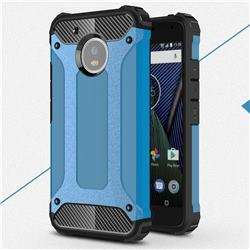 King Kong Armor Premium Shockproof Dual Layer Rugged Hard Cover for Motorola Moto G5 - Sky Blue