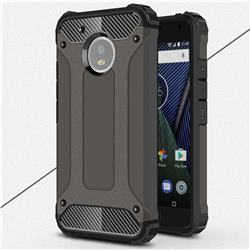 King Kong Armor Premium Shockproof Dual Layer Rugged Hard Cover for Motorola Moto G5 - Bronze