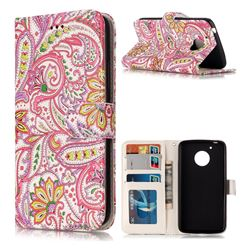 Pepper Flowers 3D Relief Oil PU Leather Wallet Case for Motorola Moto G5
