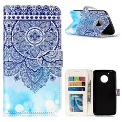 Totem Flower 3D Relief Oil PU Leather Wallet Case for Motorola Moto G5