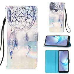 Fantasy Campanula 3D Painted Leather Wallet Case for Motorola Moto G50