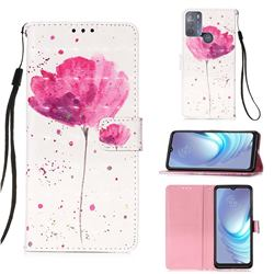 Watercolor 3D Painted Leather Wallet Case for Motorola Moto G50