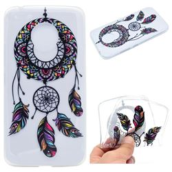 Feather Black Wind Chimes Super Clear Soft TPU Back Cover for Motorola Moto G5 Plus