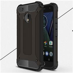 King Kong Armor Premium Shockproof Dual Layer Rugged Hard Cover for Motorola Moto G5 Plus - Black Gold