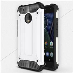 King Kong Armor Premium Shockproof Dual Layer Rugged Hard Cover for Motorola Moto G5 Plus - White
