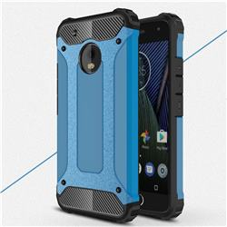King Kong Armor Premium Shockproof Dual Layer Rugged Hard Cover for Motorola Moto G5 Plus - Sky Blue
