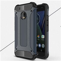King Kong Armor Premium Shockproof Dual Layer Rugged Hard Cover for Motorola Moto G5 Plus - Navy