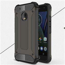 King Kong Armor Premium Shockproof Dual Layer Rugged Hard Cover for Motorola Moto G5 Plus - Bronze