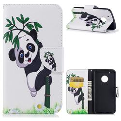 Bamboo Panda Leather Wallet Case for Motorola Moto G5 Plus