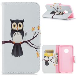 Owl on Tree Leather Wallet Case for Motorola Moto G5 Plus