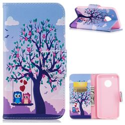 Tree and Owls Leather Wallet Case for Motorola Moto G5 Plus