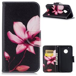 Lotus Flower Leather Wallet Case for Motorola Moto G5 Plus